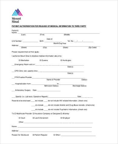 Sample Medical Records Release Forms - 9+ Free Documents in Word, PDF - sample medical records release form