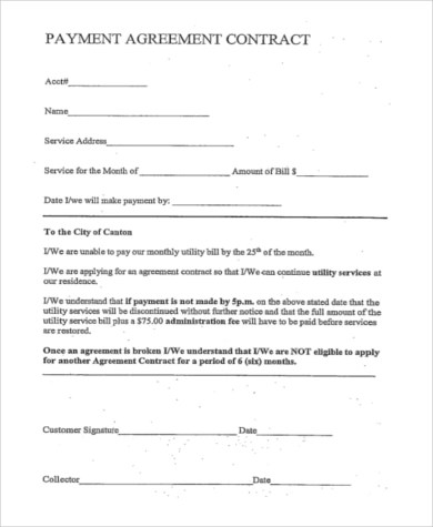 Payment Agreement - 9+ Free Documents in Word, PDF - payment agreement contract