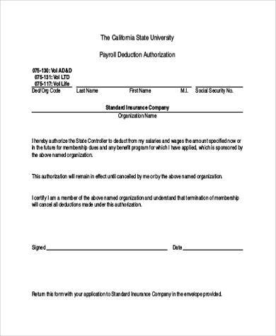 authorization forms samples - Onwebioinnovate