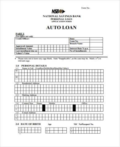 Auto Loan Contract Form - Unitedijawstates