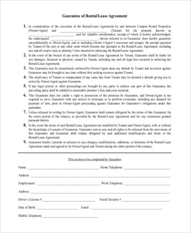 Lease Forms Sample - 9+ Free Documents in Word, PDF - printable lease agreement sample