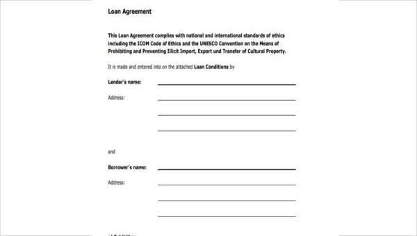 Personal Loan Agreement Form Samples - 8+ Free Documents in Word, PDF