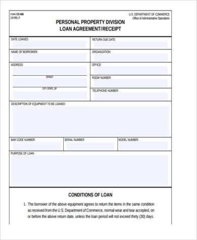 Personal Loan Agreement Form Samples - 8+ Free Documents in Word, PDF