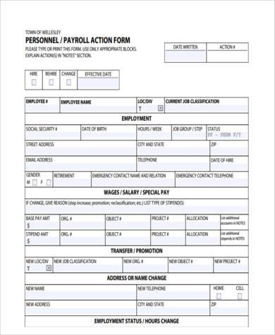 Personnel Action Form Template Image collections - Template Design Ideas - action form in pdf