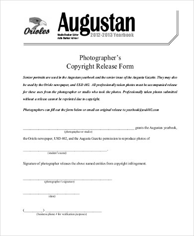 Sample Photographer Release Form - 9+ Free Documents in PDF - photographer release form