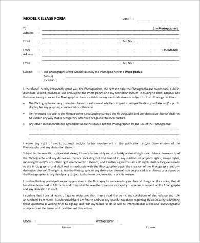 model release form in pdf - Wwwakersart - model release form in pdf
