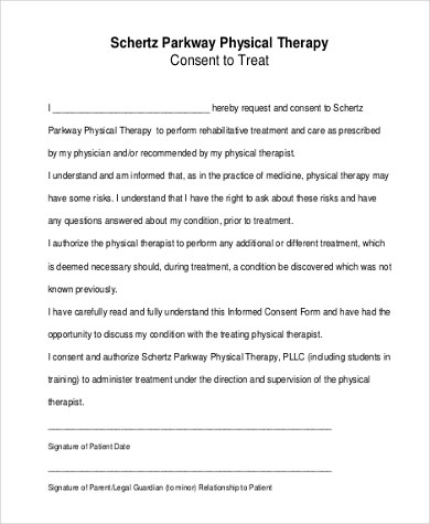 Sample Consent to Treat Form - 7+ Free Documents in Word, PDF - medical consent forms