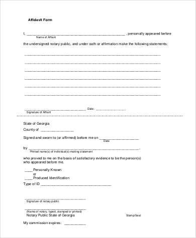 7+ Blank Affidavit Form Samples - Free Sample, Example Format Download