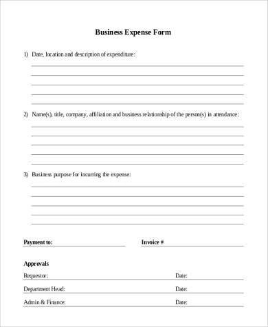 Sample Printable Business Forms - 8+ Free Documents in PDF - free printable business forms