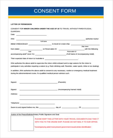 child travel consent form usa cvletterbillybullock - travel consent form sample