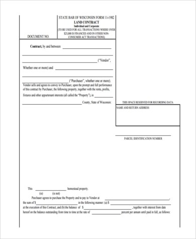 Sample Contract for Deed Forms - 8+ Free Documents in Word, PDF - free printable contract for deed