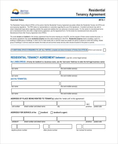 Sample Residential Rental Agreement - 9+ Free Documents in Word, PDF - printable rental agreements