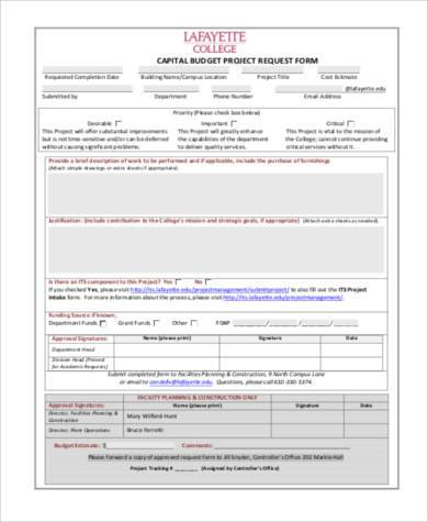 ... Budget Request Form Plainresume Co ...