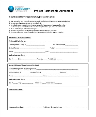 Partnership Agreement Sample - 9+ Free Documents in Word, PDF - partnership agreement