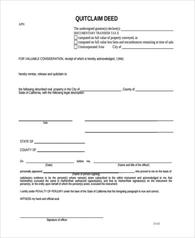 Deed Of Release Form newyearoltestinfo