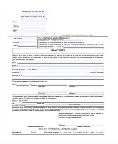 grant deed form hitecauto - grant deed form