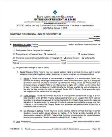 Sample Real Estate Lease Forms - 9+ Free Documents in PDF - lease renewal form