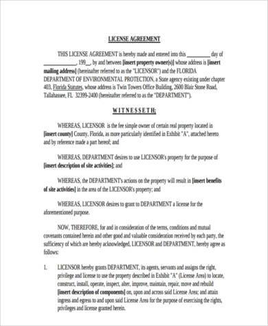 Sample License Agreement Forms   7+ Free Documents In Word, PDF   License  Agreement