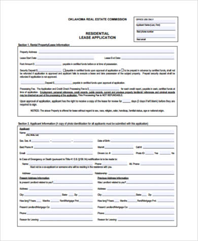 Sample Real Estate Lease Forms - 9+ Free Documents in PDF - real estate rental and lease form