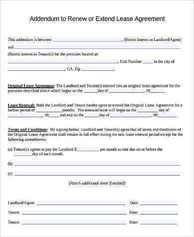 Rental Lease Agreement Form Samples - 9+ Free Documents in Word, PDF - rental lease agreement