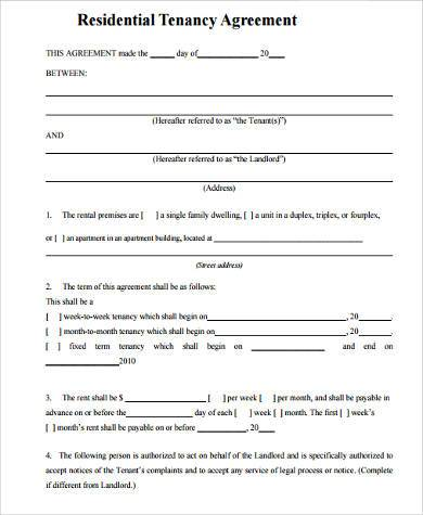 Blank Lease Agreement Other Size  S  Editable Blank Rental - lease agreement