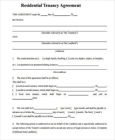 blank rental lease