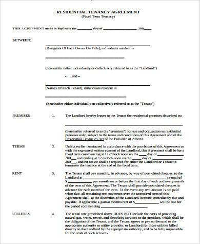 Rental Lease Agreement Sample Forms - 9+ Free Documents in Word, PDF - property lease agreement sample