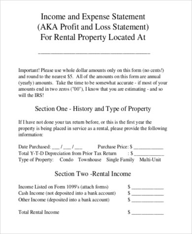 Profit And Loss Form Personal Profit And Loss Statement In Excel - personal profit and loss statement template free