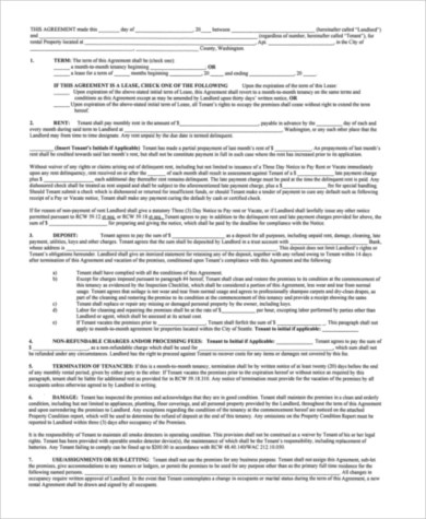 Sample Residential Rental Agreement - 9+ Free Documents in Word, PDF