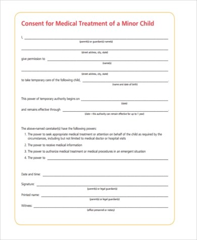 Child Travel Consent Form Sample - 6+ Free Documents in Word, PDF - sample child medical consent form