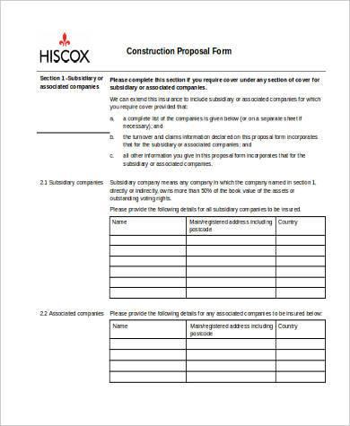 free job proposal templates beautiful construction proposal pdf