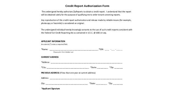 Sample Credit Authorization Form - 9+ Free Documents in Word, PDF