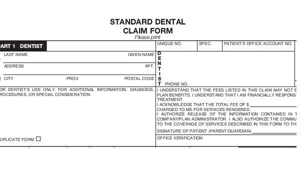 Sample Dental Claim Form - 9+ Free Documents in Word, PDF