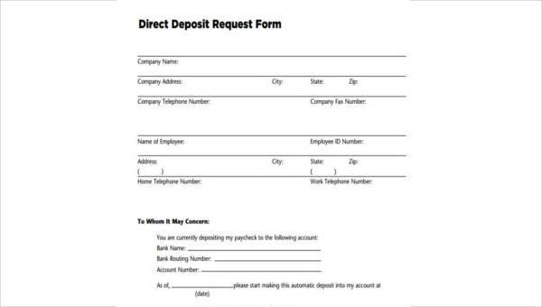 Sample Chase Direct Deposit Forms - 8+ Free Documents in Word, PDF