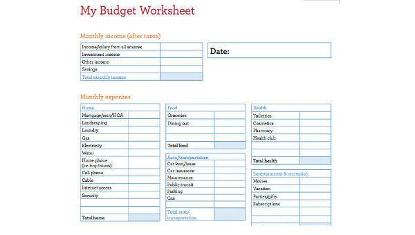 sample budget plan for family - Canasbergdorfbib