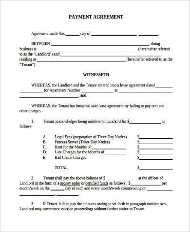 Sample Payment Agreement Form - 9+ Free Documents in Word, PDF - sample payment agreement