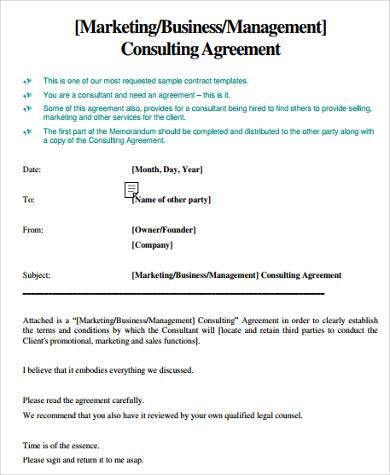 8+ Consulting Sample Agreement Forms - Free Sample, Example, Format - consulting agreement form