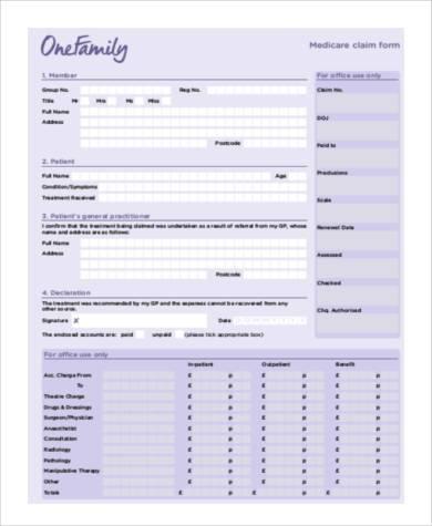 37 Sample Claim FormsMedicare Claim Form Medicare Claim Form Two - sample medicare application form