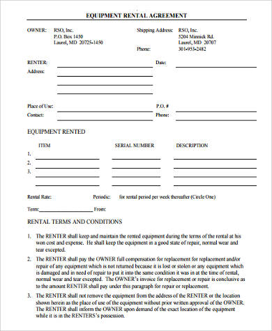 Sample Rent to Own Agreement - 7+ Free Documents in Word, PDF