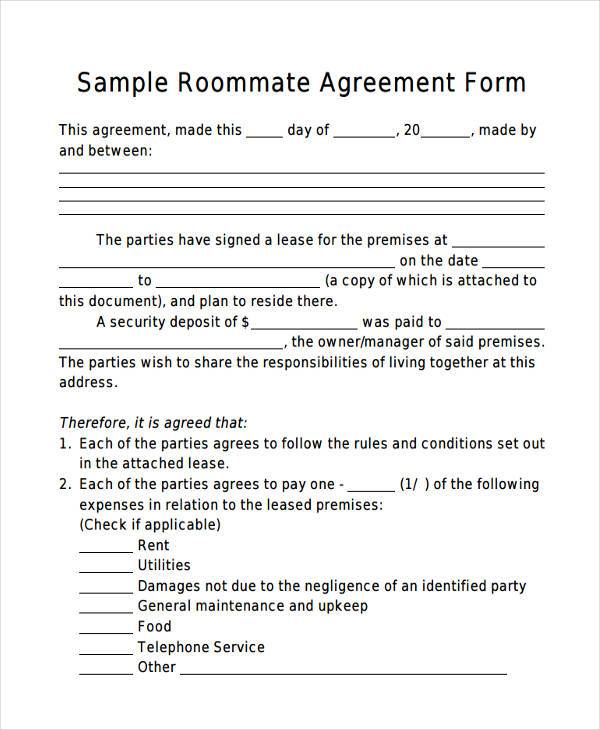simple sublease agreement