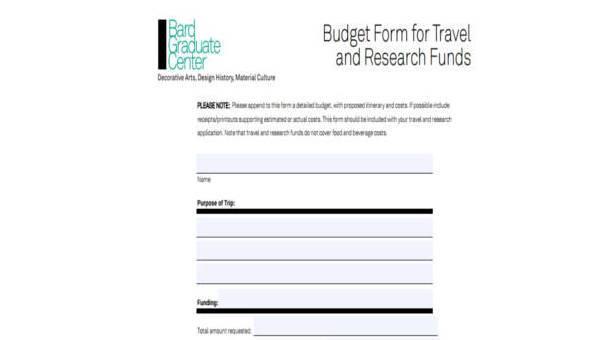 sample budget forms - Kubrakubkireklamowe