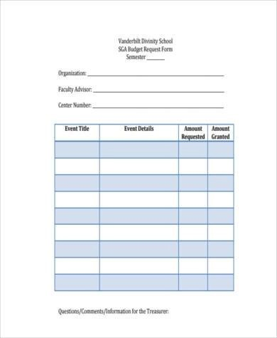 Sample School Budget Forms - 9+ Free Documents in Word, PDF