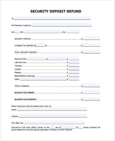 rental deposit form   lukex.co