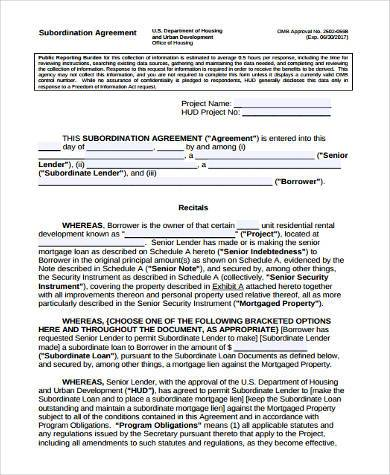 Sample Shareholder Agreement Forms - 8+ Free Documents in Word, PDF - subordination agreement template