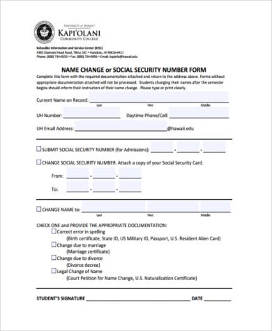 social security name change form - Teacheng - social security form
