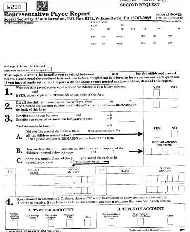 Sample Social Security Payee Forms - 8+ Free Documents in Word, PDF - social security form