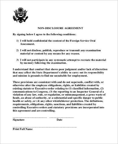 Standard Non-Disclosure Agreement Samples - 9+ Free Documents in