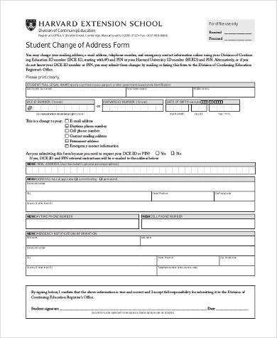 Change of Address Form - 10+ Free Documents in Word, PDF