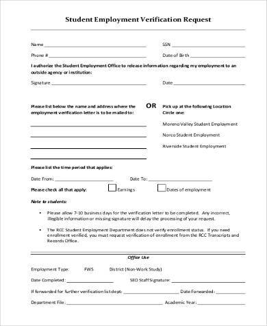 Request For Verification Of Employment Form. 30 Images Of Template Employment  Verification Form Helmettown ...