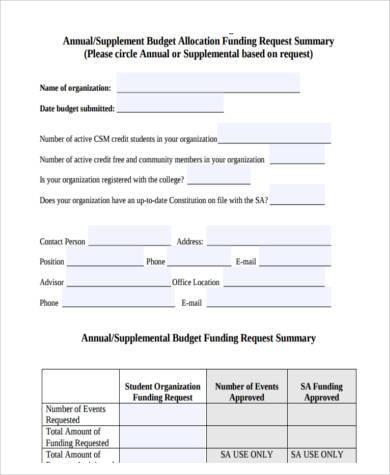 Budget Form Sample Proposal Budget Forms Free Documents In Word Pdf
